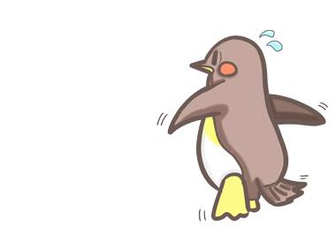 手書き風ペンギンのイラスト