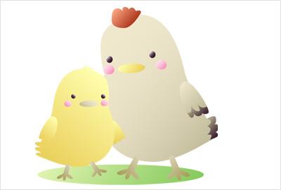 鶏の無料イラストってかわいい物や漫画チックな物が多いんですよね