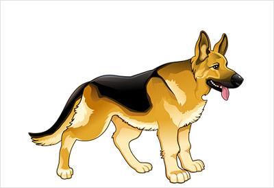 海外の犬の無料ベクター4