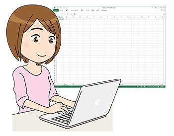 年賀状はエクセル(Excel)使ってるよ~