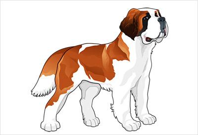 海外の犬の無料ベクター3