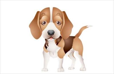 海外の犬の無料ベクター6