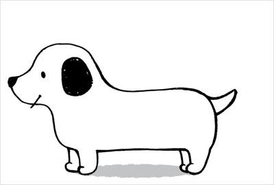 デフォルメされた犬もぱっと書けます。