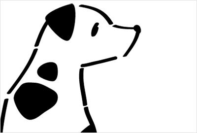 シンプルな線で書けるかわいい犬のイラスト