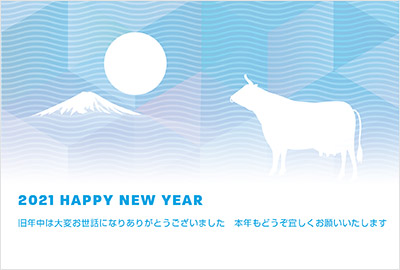 2~3色使いがおしゃれなデザインの年賀状