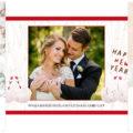 写真フレームで結婚報告